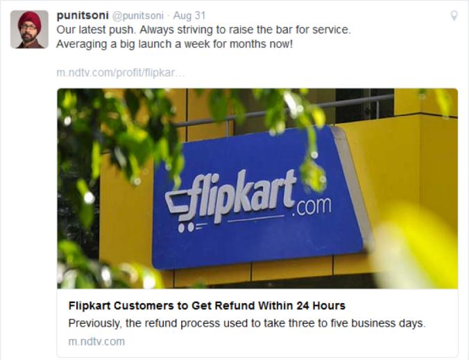 Flipkart's New Refund Policy