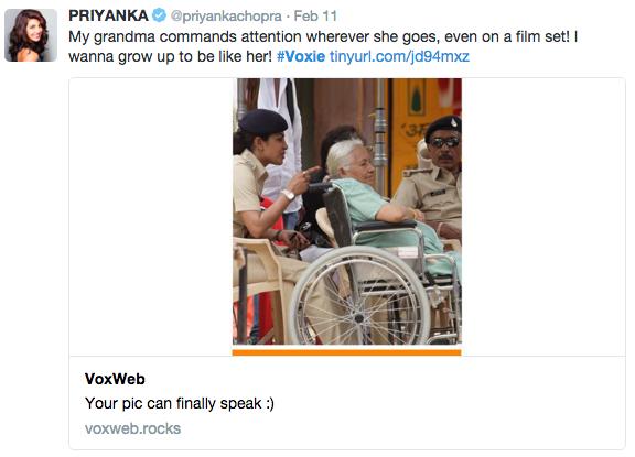 Priyanka chopra voxie
