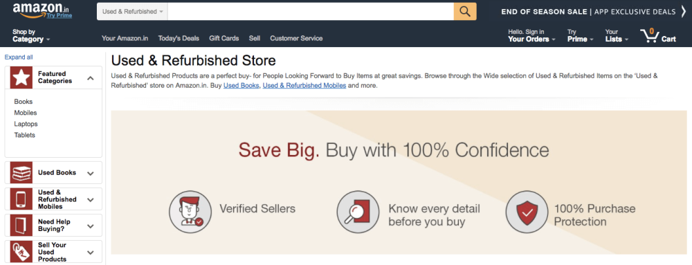 amazon-india-used-product-store