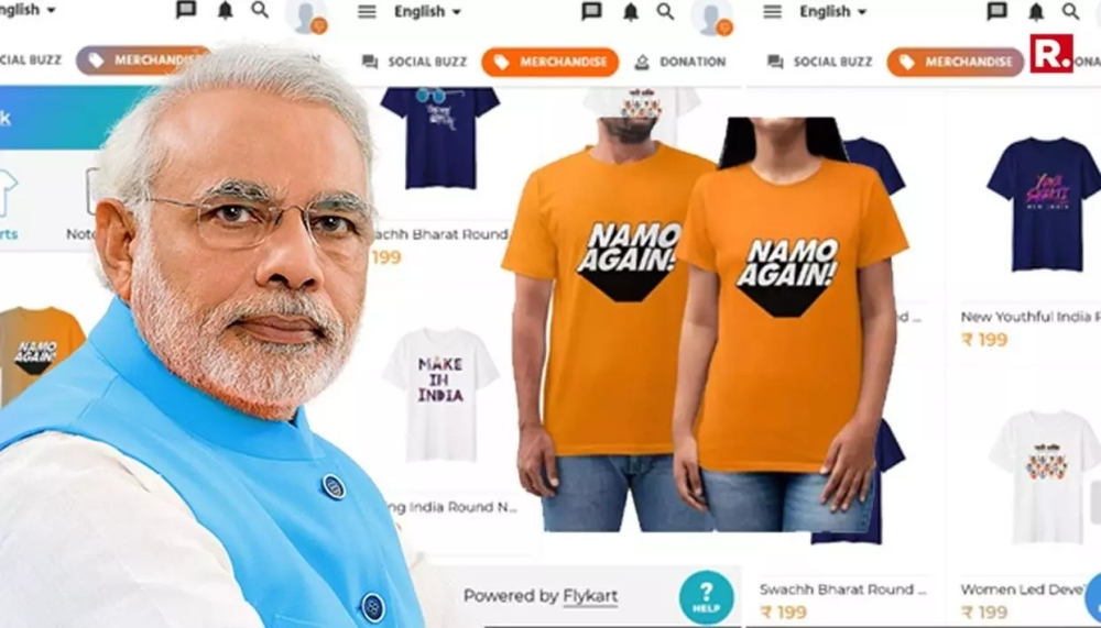 Narendra Modi merchandise, Prime Minister of India, Narendra Modi t-shirt, Narendra Modi , erchandise sale on PayTM, Narendra Modi merchandise sale on Amazon, Narendra Modi, NaMo app